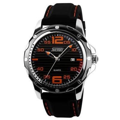 yes99buy加盟-時尚休閒復古男士防水膠帶日曆指針手錶腕表
