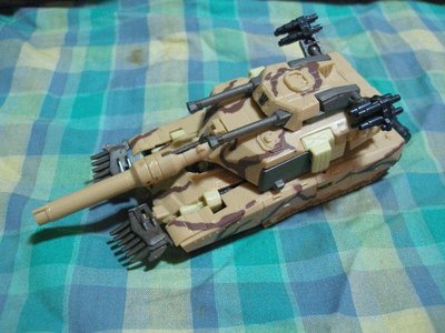 ((缺件品))2006年日商TAKARA HASBRO出品變形金剛/BRAWL/沙漠迷彩戰車/坦克車A29
