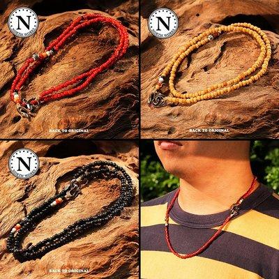 Back to Original【North Works】日產 摩根銀幣扣具印地安琉璃珠項鍊/手鍊