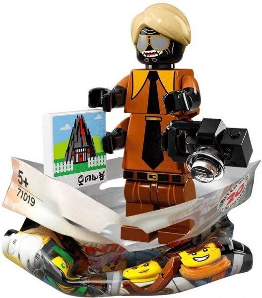 現貨【LEGO 樂高】積木 / 人偶包系列 忍者電影 71019   #15 西裝伽瑪當+相機 Garmadon