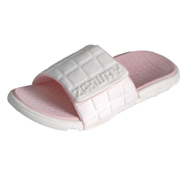 ZABWAY [穿斷換給你] 粉紅色 女鞋 魔鬼氈棒球拖鞋