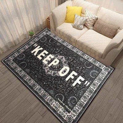 地毯 手工羊毛简约 可爱风ow宜家IKEA聯名off white腰果花keep off 地毯網紅歐式潮牌地毯