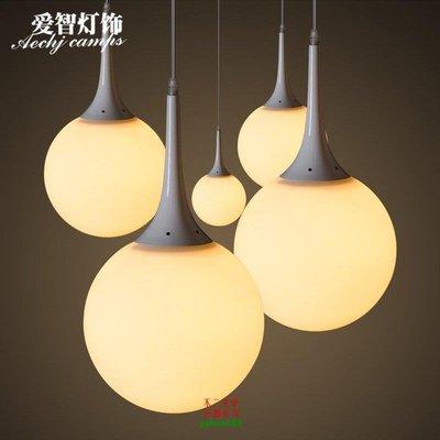 【美學】北歐現代簡約歐式玻璃球吊燈臥室客廳燈餐廳燈具MX_832