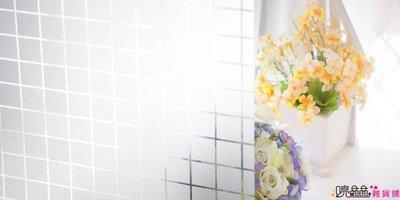 ☆ 喨晶晶雜貨舖☆ 3D002 格子霧面靜電窗貼 防水 DIY 創意窗貼 可重覆黏貼 MIT