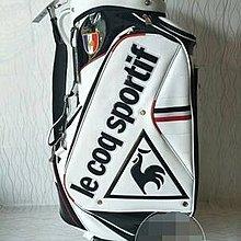 Le coq sportif 公雞高爾夫球包 輕便型 標準全套桿球包 黑白可選
