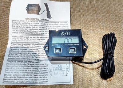感應式轉速表  ; Hour meter ; 引擎工作時數表 ;割草機 農機定時機油保養 引擎計時器
