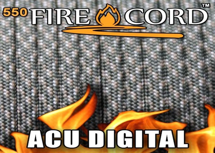 【angel 精品館 】FireCord 火種傘繩25呎/ACU數位迷彩色 FC-ACUDIGCAMO25