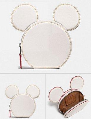 ~☆.•°莎莎~*~~☆~ COACH 59071 Disney Mickey 米奇米老鼠系列大耳朵零錢包 現貨