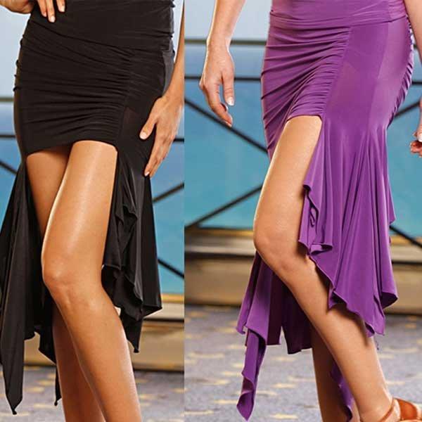 5Cgo【鴿樓】會員有優惠 16442313874 流蘇不規則拉丁舞裙 倫巴恰恰舞服 拉丁舞短裙 練習裙比賽舞裙半身裙