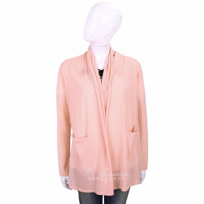 米蘭廣場 ALLUDE 100%羊毛粉橘色雙口袋慵懶鬆領針織外套 1740252-39