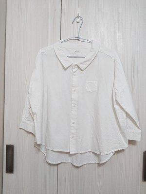 日本品牌  Bliss bunch 落肩寬版白色襯衫