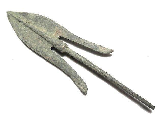 【 金王記拍寶網 】T907  出土文物 青銅器 青銅箭鏃 一支 罕見稀少