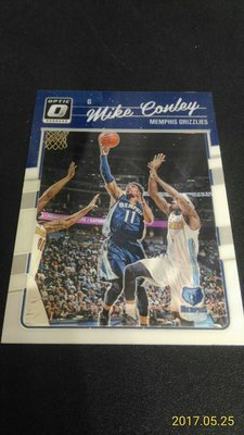 2016-17 DONRUSS OPTIC~Mike Conley 金屬普卡 # 30