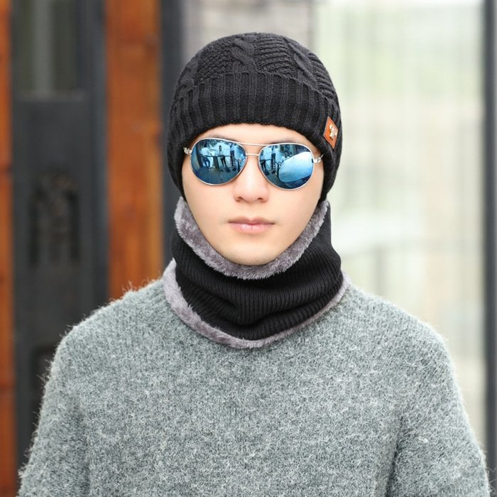 【實用大方】針織帽帽子加厚保暖秋冬男士冬季冬天針織帽加絨毛線帽百搭