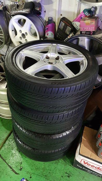 保證正品ENKEI  17吋輕量化鋁圈 5x114.3  買鋁圈送輪胎 2800元/1  總共4顆  225/4