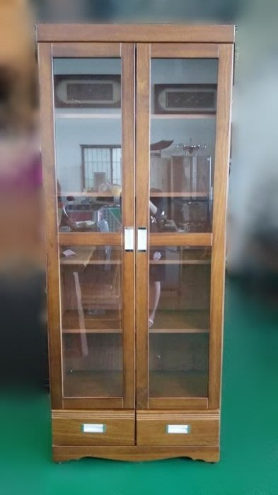 台北宏品二手家具 全新中古傢俱 SC1203CJD2*全新樟木書櫃 高級實木下抽屜書架 酒櫃 展示櫃*電視櫃 茶几 沙發