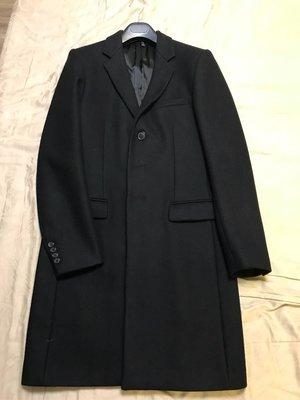 Dior Homme黑色羊毛長大衣