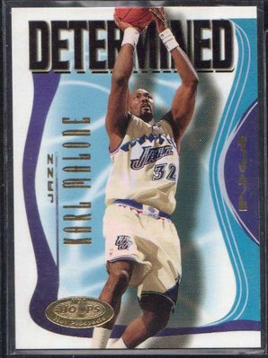 00-01 FLEER NBA HOOPS PROSPECTS DETERMINED #6 KARL MALONE