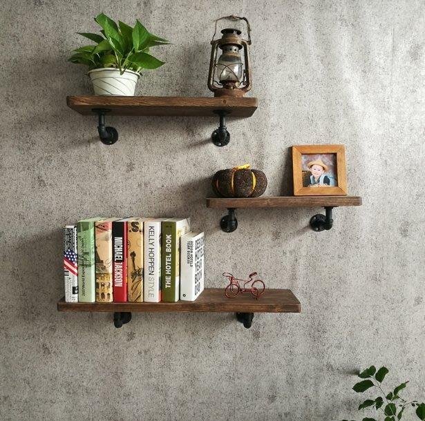 【J Simple工業風】 現貨-復古層板架 置物架 展示架 置物架木板 掛衣架牆上壁掛衣架 書櫃 服裝架 仿舊  書架