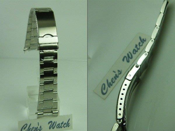錶帶屋 代用勞力士 Rolex 水鬼 16610 三板拉銀絲面實心鋼帶 17mm  20mm 現貨商品