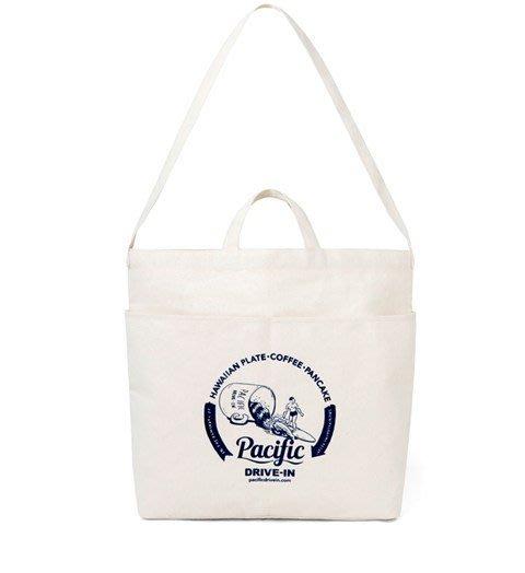 【BAOBAOBABY寶貝日雜包】日本雜誌附贈附錄 Pacific DRIVE-IN 斜背包 單肩背袋 手提兩用托特包