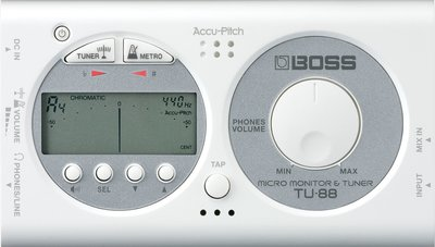 ♪♪學友樂器音響♪♪ BOSS TU-88 調音器節拍器 白色 tu88