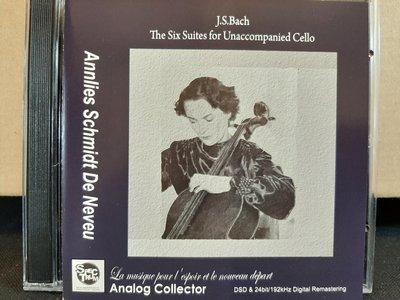 Neveu,J.S Bach-The Six Suites For Unaccompanied Cello妮芙,巴哈-無伴奏大提琴組曲(全曲),2CD,日本版.