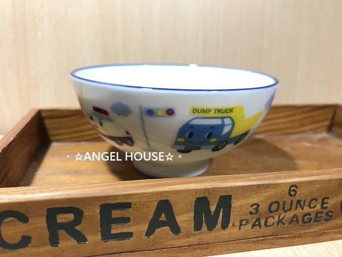 。☆ANGEL HOUSE☆。日本進口**R/B 工程車**兒童陶瓷碗330