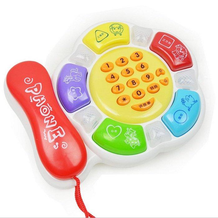【小賣咖市集】兒童啟蒙電話 電話早教機 說故事電話機 啟蒙玩具 聲光電話 幼兒玩具 益智教具