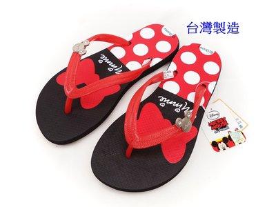 現貨~Disney迪士尼可愛米妮夾腳拖鞋(464758)紅色37號(親子款)