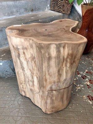 柚木塊矮椅邊櫃邊桌- Bono Stump #1