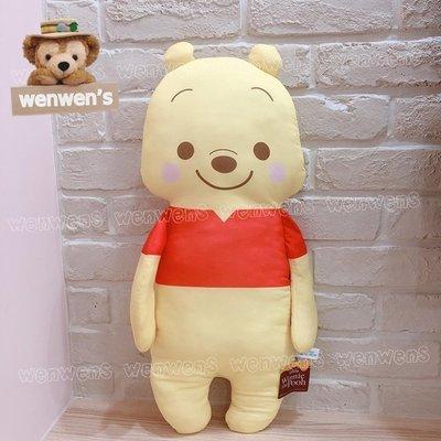 【Wenwens】日本帶回 日版 迪士尼 小熊維尼 維尼 POOH 小豬 抱枕 靠枕 長型 娃娃 軟綿綿 單售維尼款