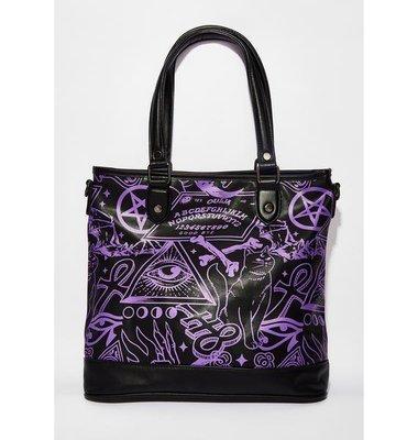 【丹】KS_Miss Morbid Tote Handbag 符文 圖騰 紫色 風格 側背包 肩背包