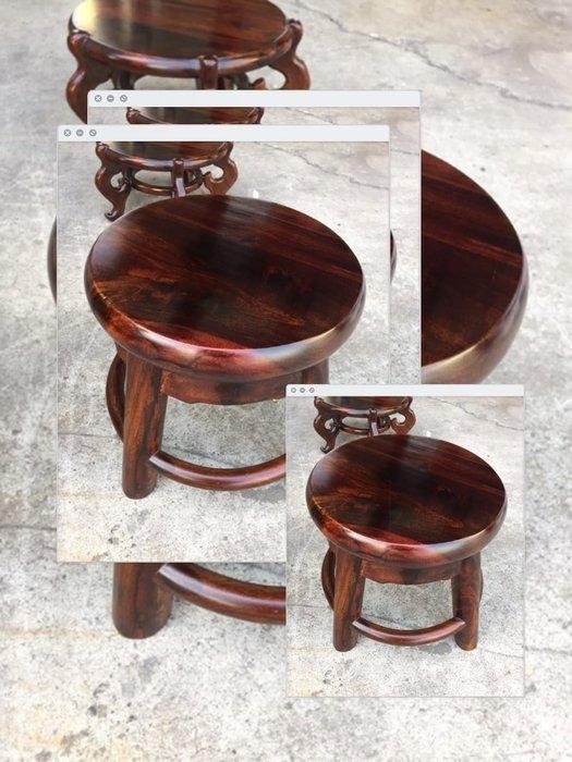 【小川堂】雞翅木 頂級 原木 板凳 花檯 藝品擺飾架 電話櫃 書櫃 斗櫃 角落櫃