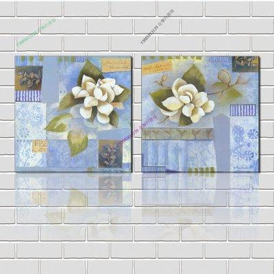 【50*50cm】【厚0.9cm】經典花卉-無框畫裝飾畫版畫客廳簡約家居餐廳臥室牆壁【280101_204】(1套價格)