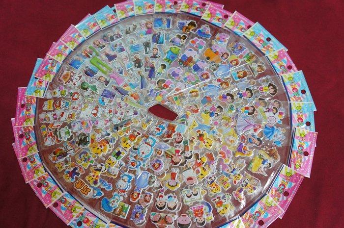 獎勵貼紙 立體泡泡貼紙 可當贈品 變型金鋼 小小兵 粉紅豬 小丸子 ☆愛米粒☆