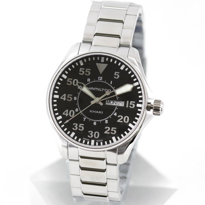 現貨 可自取 HAMILTON H64611135 漢米爾頓 手錶 Khaki Pilot 42mm 飛行員航空錶 男錶