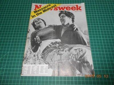 《Newsweek Massacre In the Mideast》七成新 1974.May【CS超聖文化2讚】