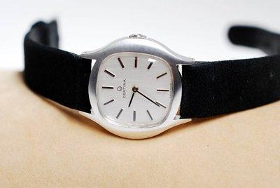 《寶萊精品》CERTINA 雪鉄納銀白圓方手動女錶