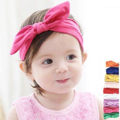 【可愛村】 簡約純色棉感兔耳髮帶 兒童髮飾 髮帶