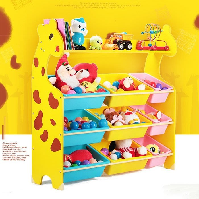 5Cgo【樂趣購】553339062546兒童玩具收納櫃大容量書架桌面收納架多層寶寶置物架整理架書架書櫥家庭幼兒園收納盒