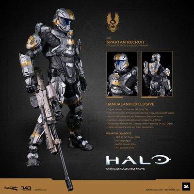 全新啡盒未開封 3A Threezero ThreeA 1:6 Halo Spartan Recruit 網上 特別版 網版 3aaa Bambaland