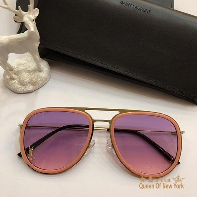 【紐約女王代購】YSL yves saint laurent 時尚飛行 太陽眼鏡 顏色4 歐洲限量代購
