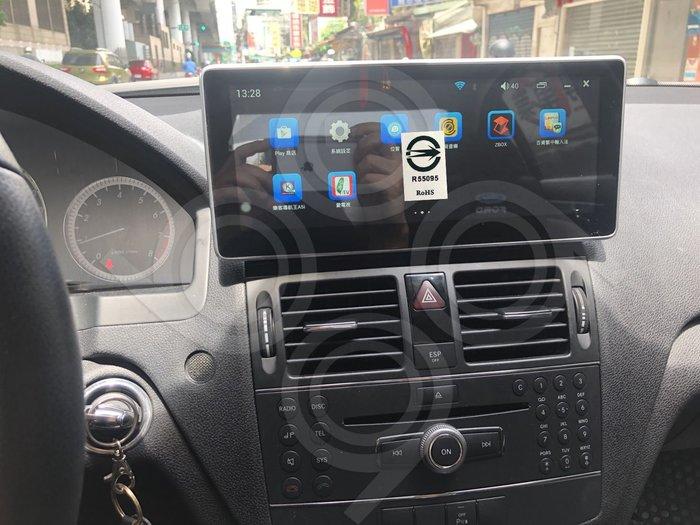 BENZ賓士W204 C200 -10.1吋安卓專用機.Android.觸控螢幕.usb.導航.網路電視.公司貨保固一年