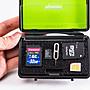 呈現攝影-黑金剛記憶卡收納盒 內層防滑 可記錄和擦拭 防水/防摔/防塵 儲存盒 SD.CF MicroSD TF
