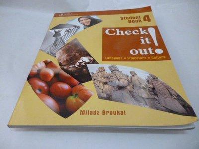 買滿500免運 / 崇倫《Check It Out! Book 4》ISBN:1424004837│Broukal, M