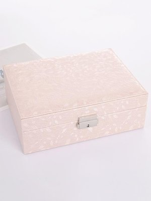 首飾盒簡約 歐式公主韓國手飾品收納盒多功能 帶鎖木質耳環首飾盒