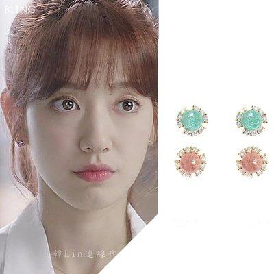【韓Lin連線代購】韓國 GET ME BLIN - 朴信惠明星同款抗敏925銀針耳環 SMALL PLANET