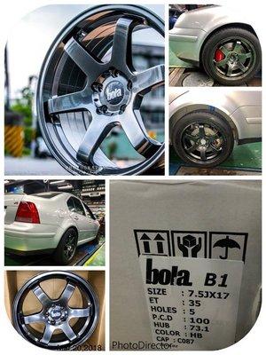 CS車宮車業 BOLA B1 17吋鋁圈 福斯 VW BORA