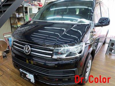Dr. Color 玩色專業汽車包膜 Volkswagen T6 細紋自體修復透明犀牛皮_引擎蓋/車頂局部/A柱/門碗